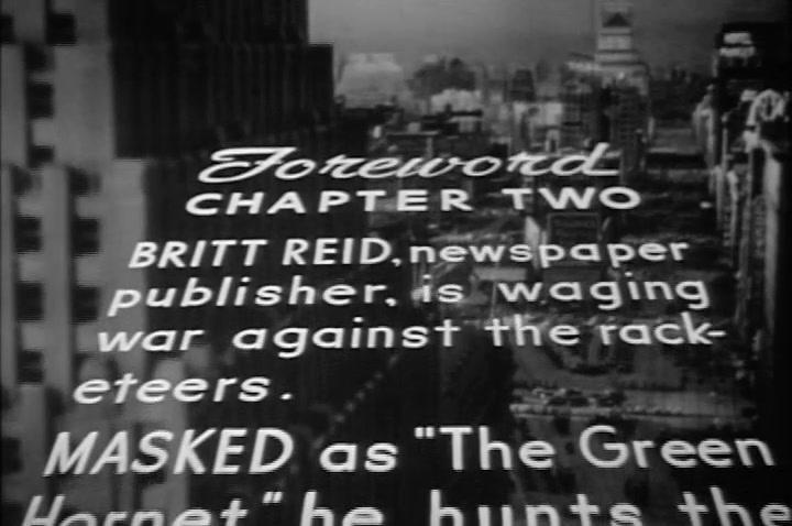 THE GREEN HORNET **Thundering Terror** (Episode 2) 1940
