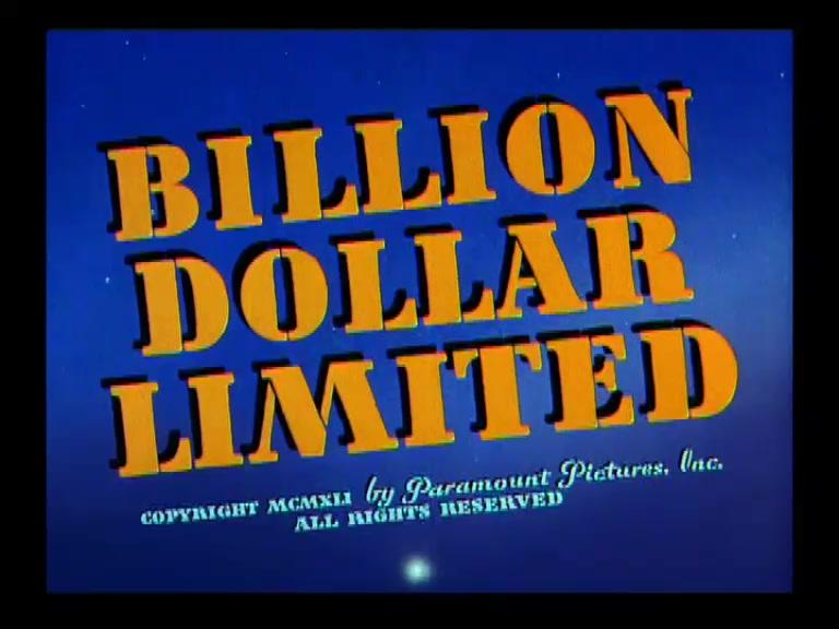SUPERMAN **Billion Dollar Limited** 1942